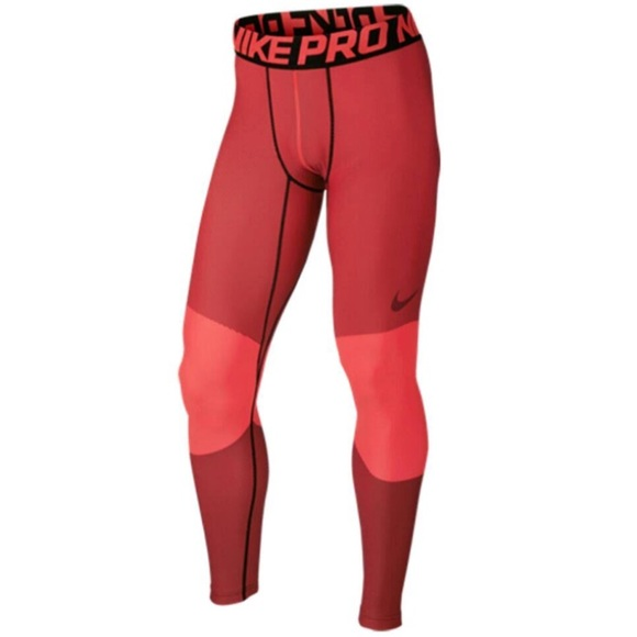 b627ec3a558f2 Nike Pants | Mens Pro Hyperwarm Lines Compression Tights | Poshmark